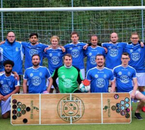 Beer Pong Fußballmannschaft