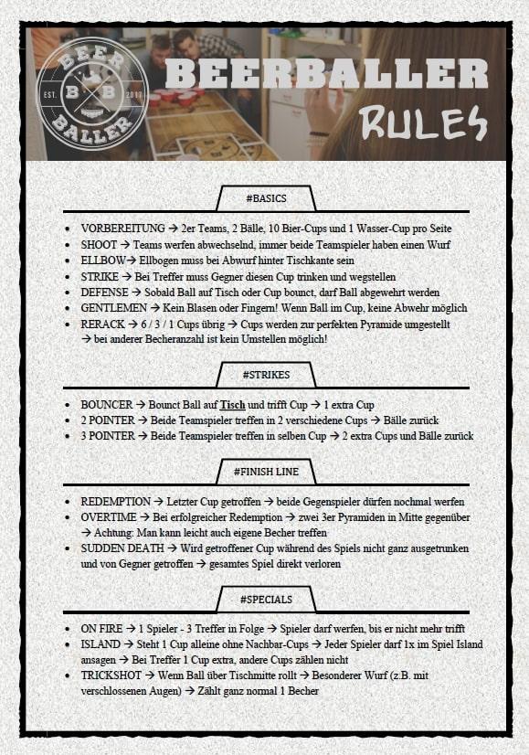 BeerBaller Regelwerk