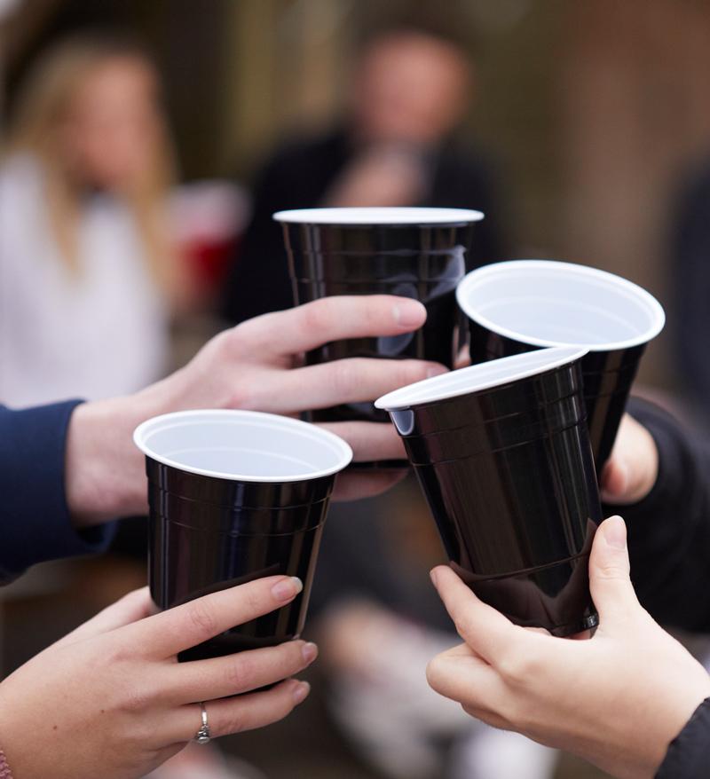 BeerBaller Black Cups